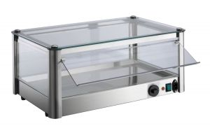 VKB81R Counter top display cabinet Hot 1 PIANO in stainless steel sheet
