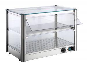 Mostrador de mostrador caliente 2 PISOS en chapa de acero inoxidable P = 400 W Dimensiones Cm L37xP37x39 H Modelo VKB32R