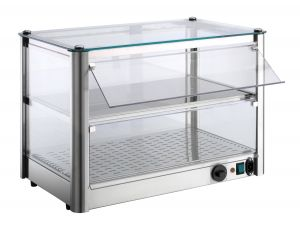 VKB82R Counter top display cabinet Hot 2 FLOORS made of stainless steel sheet