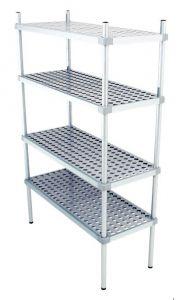 Scaffale in alluminio 4 ripiani dim. cm 110x50x160h code: SN50110H160