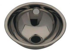 LX1100 Lavabo esférico de acero inoxidable de drenaje central 450X480X160 mm - LUCIDO -
