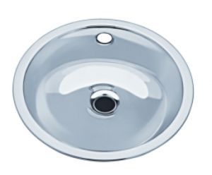 LX1160 Lavabo circular de acero inoxidable descentralizado 385x440x163 mm- PULIDO -