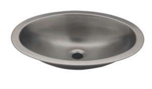 LX1300 Lavabo ovale in acciaio inox 510x390x155 mm - SATINATO -