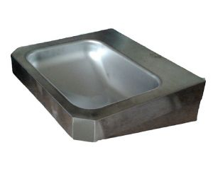 "LX1360 Lavabo rectangular ""Chigi"" con estantes de acero inoxidable 500x445x133 mm -SATINATO -"