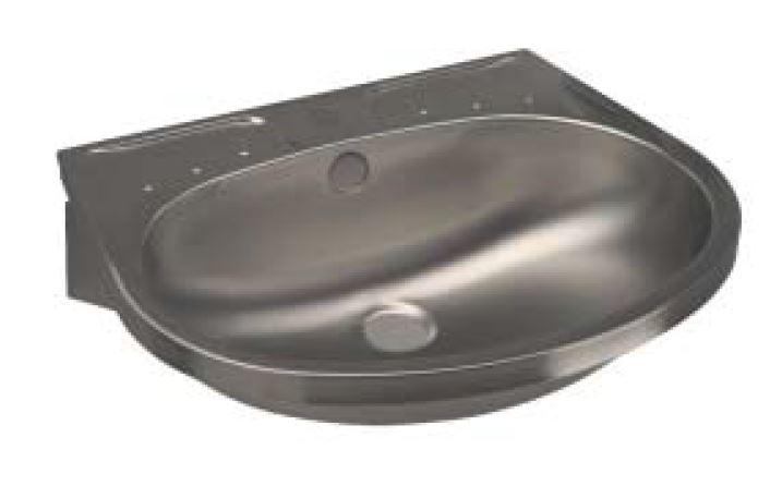 Lx lavabo conchiglia con mensole in acciaio inox