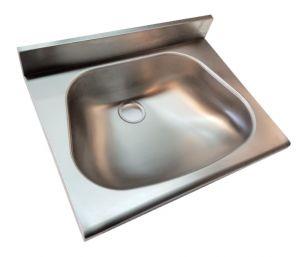 LX1440 Lavamani per mensole c/spallina in acciaio inox 450x370x130 mm -SATINATO-