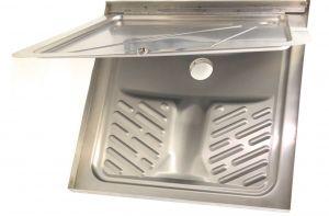 LX2030 Turca con doccia ribaltabile in acciaio inox 800x800 mm DOPPIO USO