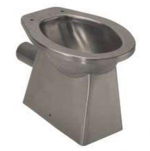 Inodoro de acero inoxidable LX3010 con desagüe de pared 520x365x375 mm - SATIN -