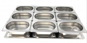 TIMGS19 Gastronorm 1/1 cadre en acier inoxydable pour 9 conteneurs GN 1/9