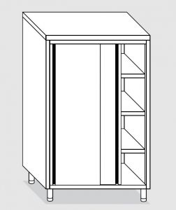 24204.14 Armadio verticale agi cm 140x60x160h porte scorrevoli - 3 ripiani interni regolabili