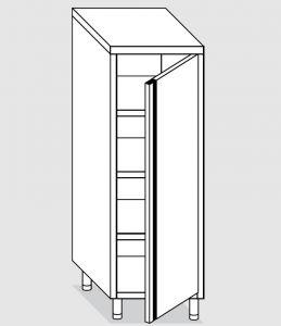 24301.06 Armadio verticale agi cm 60x70x200h porta a battente - 3 ripiani interni regolabili