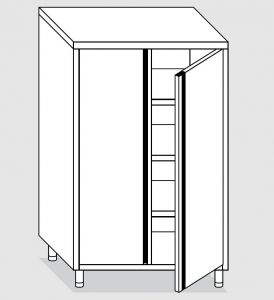 24202.07 Armadio verticale agi cm 70x60x160h porte a battente - 3 ripiani interni regolabili