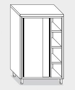 14208.14 Armadio verticale g40 cm 140x60x180h porte scorrevoli - 3 ripiani interni regolabili