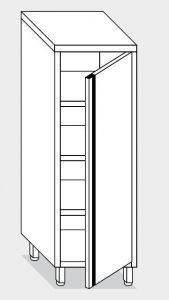 14206.05 Armadio verticale g40 cm 50x60x180h porta a battente - 3 ripiani interni regolabili