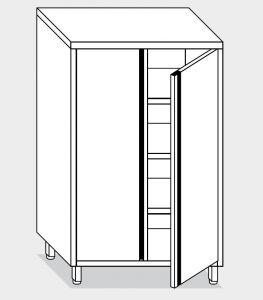 14303.08 Armadio verticale g40 cm 80x70x200h porte a battente - 3 ripiani interni regolabili