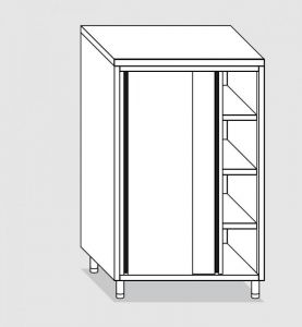 34208.14 Armadio verticale past cm 140x60x180h porte scorrevoli - 3 ripiani interni regolabili