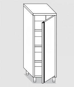 34301.06 Armadio verticale past cm 60x70x200h porta a battente - 3 ripiani interni regolabili