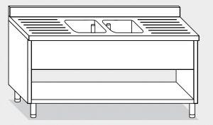 21513.19 Lavatoio su fianchi agi cm 190x70x85h 2v e 2sg
