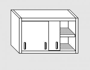 62002.11 Pensile porte scorrevoli 1 ripiano sgocciolatoio cm 110x40x60h